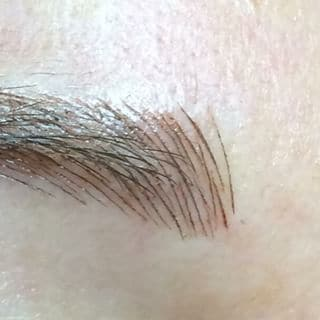 Hair stroke brow technique